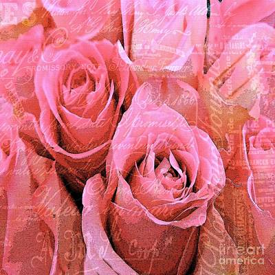 Photograph - Roses Pink And Pretty by Saundra Myles
