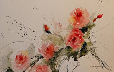 Painting - Roses by Sandra Strohschein