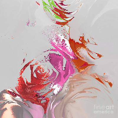 Digital Art - Roses by Soumya Bouchachi
