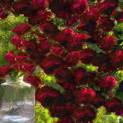 Photograph - Roses Squared by Lora Fisher