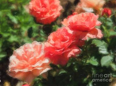 Digital Art - Roses Watercolor by Jill Lang