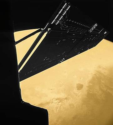 Rosetta Over Mars Art Print by Esa/rosetta/philae/civa