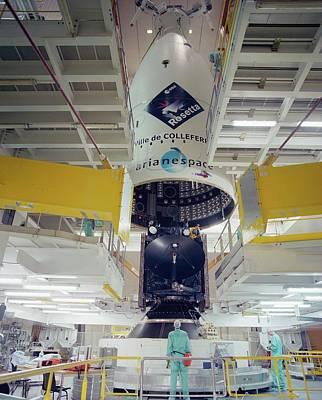 Rosetta Spacecraft Art Print by Esa/cnes/arianespace - Service Optique