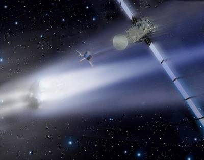 Rosetta Spacecraft Art Print by European Space Agency
