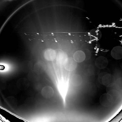Phila Photograph - Rosetta Spacecraft From Philae Lander by Esa/rosetta/philae/civascience Photo Library