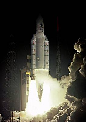 Rosetta Spacecraft Launch Print by Esa/cnes/arianespace-service Optique Csg, 2004