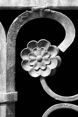 Grate Photograph - Rosette - Wrought Iron  by Nikolyn McDonald