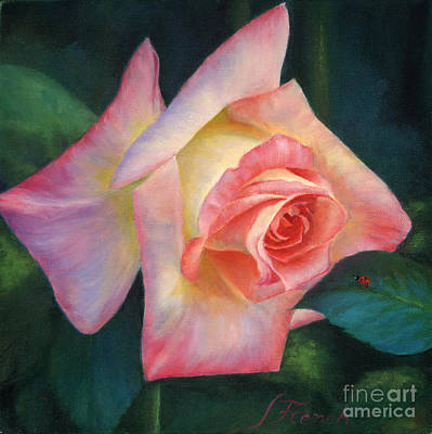 Painting - Rosey And Friend by Jeanette French