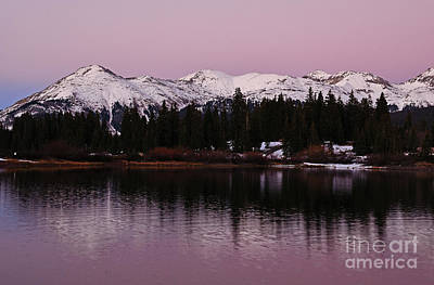 Photograph - Rosey Lake Reflections by Kelly Black