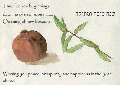 Painting - Rosh Hashanah by Annemeet Hasidi- van der Leij
