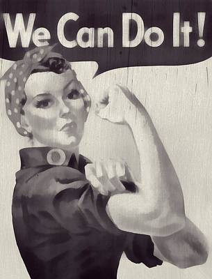 Muscle Mixed Media - Rosie The Riveter by Dan Sproul