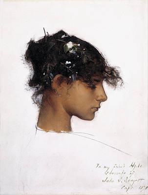 Rosina Ferrara - Head Of A Capri Girl Art Print by John Singer Sargent
