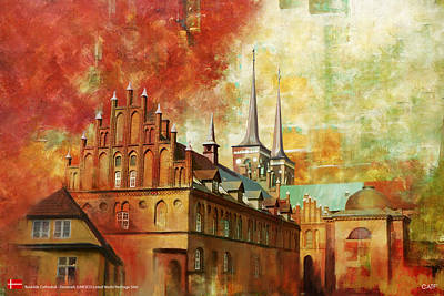 Roskilde Cathedral Art Print by Catf
