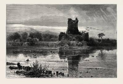 Art Ross Drawing - Ross Castle, Killarney, Ireland by Irish School