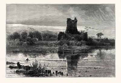 Art Ross Drawing - Ross Castle, Killarney by Irish School