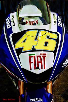Rossi Yamaha Art Print