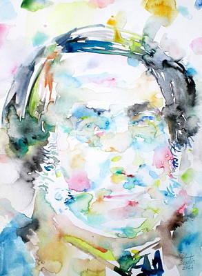 Painting - Rossini - Watercolor Portrait by Fabrizio Cassetta