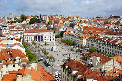 Red Roof Photograph - Rossio Square by Carlos Caetano