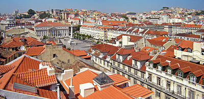 Rooftops Photograph - Rossio Square by Jose Elias - Sofia Pereira