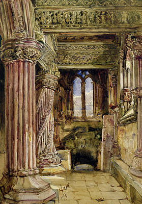 Scotland Drawing - Rosslyn Chapel, Scotland by Alexander Jnr Fraser