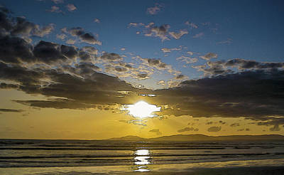 Photograph - Rossnowlagh At Sunset  by Alex Saunders