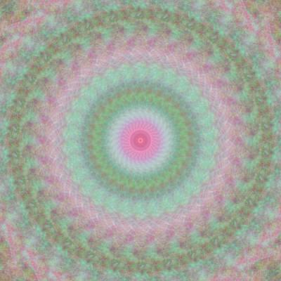 Digital Art - Rosy Kaleidoscope 1 by Rhonda Barrett