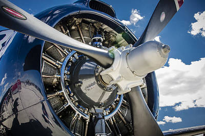 Photograph - Rotary Engine And Prop by Bradley Clay