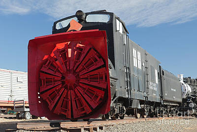 Photograph - Rotary Snow Thrower 99201 In The Colorado Railroad Museum by Fred Stearns