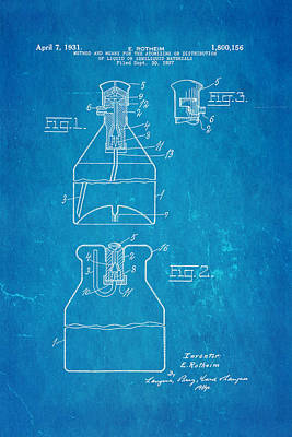 Rotheim Aerosol Patent Art 1931 Blueprint Art Print