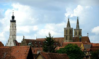 Photograph - Rothenburg Skyline by Corinne Rhode