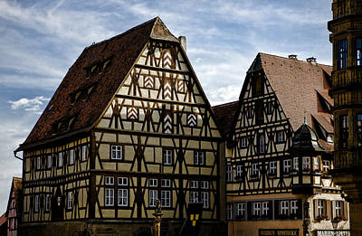 Rothenburg Architecture Art Print by Joanna Madloch