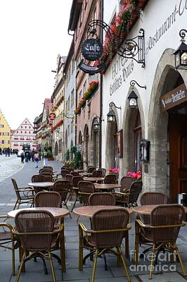 Photograph - Rothenburg Cafe by Carol Groenen