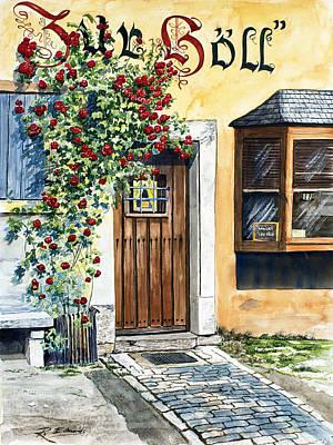 Rothenburg Painting - Rothenburg Door by Raymond Edmonds