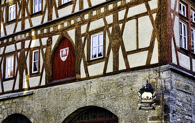 Rothenburg Geometry Art Print by Joanna Madloch
