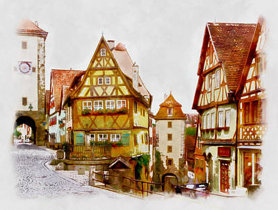 Photograph - Rothenburg by Jenny Setchell