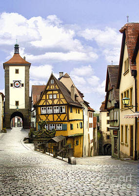 Photograph - Rothenburg Marketplatz by Sharon Foster