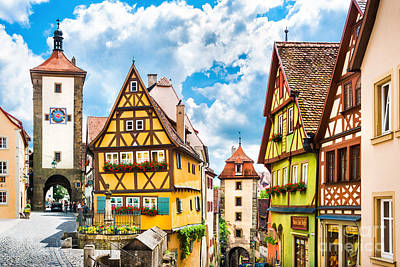 Cityscape Photograph - Rothenburg Ob Der Tauber by JR Photography