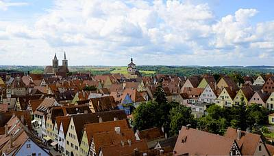 Photograph - Rothenburg Rooftops by Corinne Rhode