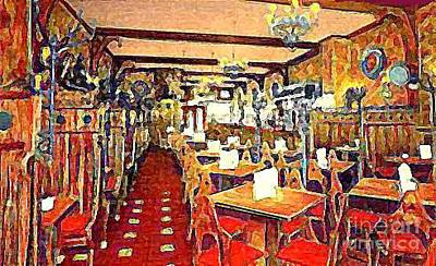 Roth's Grill And Restaurant In New York City Around 1930 Art Print by Dwight Goss