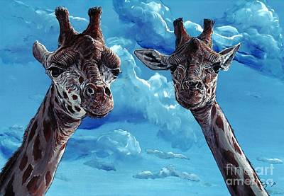 Rothschild Giraffe Art Print by Tom Blodgett Jr