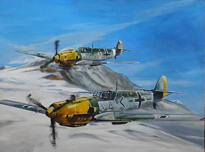 Aviation Painting - Rotte by Terence R Rogers