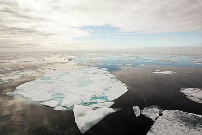 Rotten Sea Ice At Over 80 Degrees North Art Print by Ashley Cooper