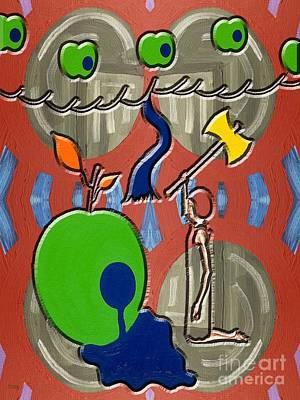 Fantasy Tree Art Painting - Rotten Tree Rotten Fruit by Patrick J Murphy