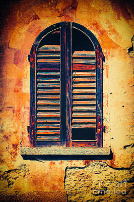 Photograph - Rotten Window With Moody Wall by Silvia Ganora