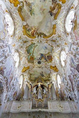 Photograph - Rottenbuch Organ And Ceiling by Jenny Setchell