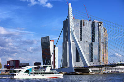 Maas Photograph - Rotterdam City Downtown by Artur Bogacki