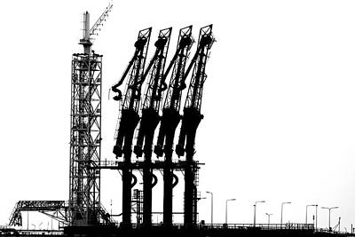 Rotterdam Photograph - Rotterdam-harbour by Jan Niezen