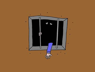 Rotting In Jail Art Print by Richard Bennett