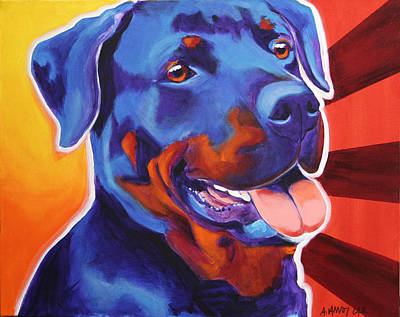 Rottweiler - Baloo Art Print by Alicia VanNoy Call
