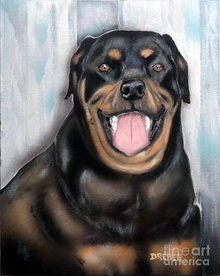 Painting - Rottweiler by Chris Dreher
